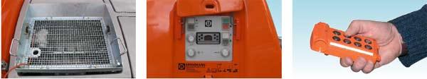 Защитная решетка приёмного бункера,  Управление, Пульт дистанционного радиоуправления