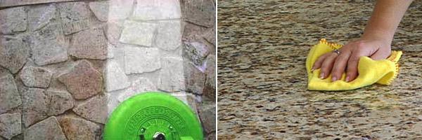 Советы по чистке натурального камня