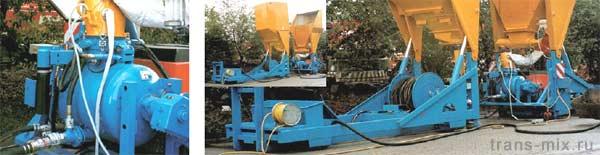 Установка для смешивания и подачи песочно – цементных растворов.