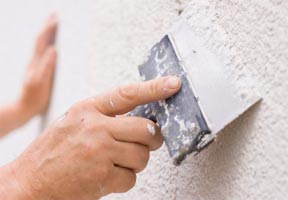 Which materials are used in plaster mortars