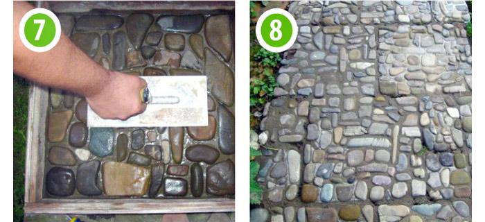 Плитка из камушек сделанная своими руками 86