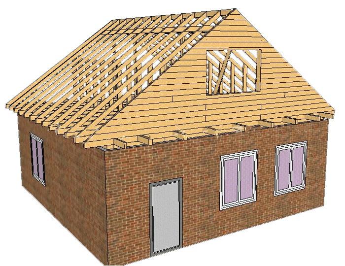 Как построить двухскатную крышу