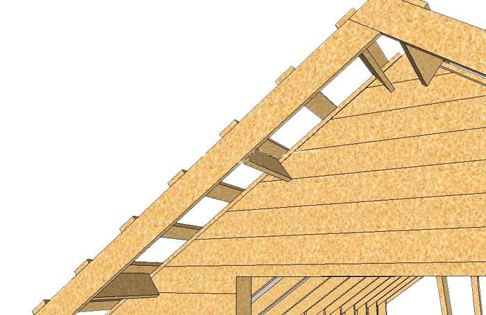 Как сделать фронтонный свес на крыше 164