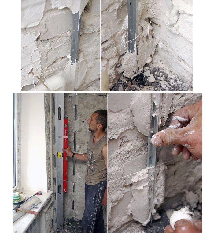 Выравнивание стены штукатуркой своими руками 702