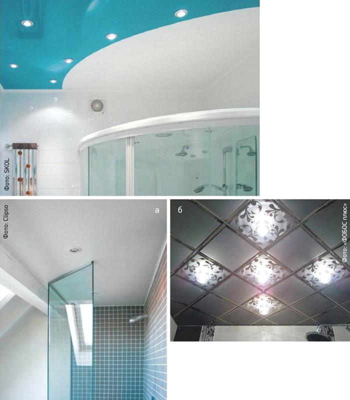 Подвесные потолки в туалете
