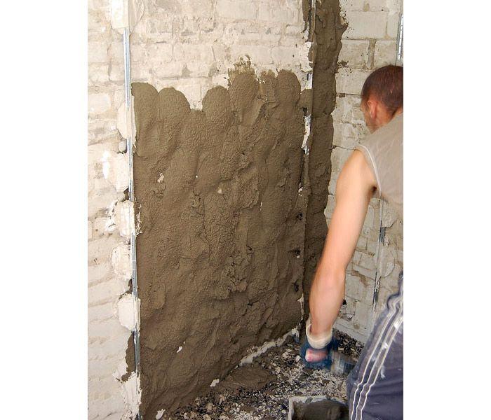 Штукатурка стен цементным раствором своими руками без маяков 75